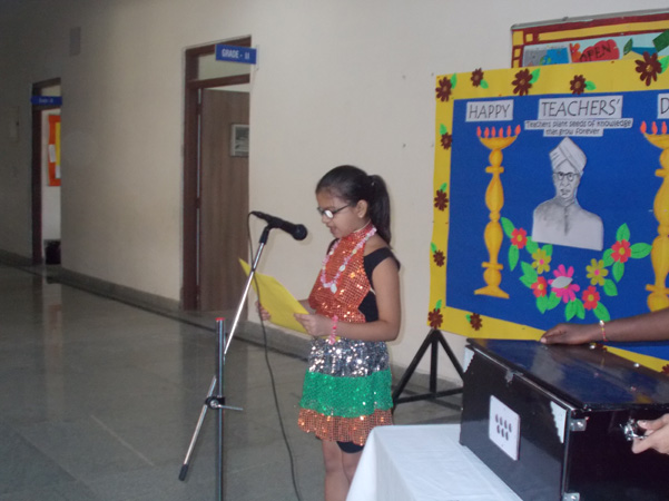 Sing a song Teachers Day Celebration