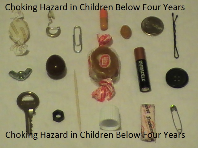 Choking Hazard in Children Below Four Years