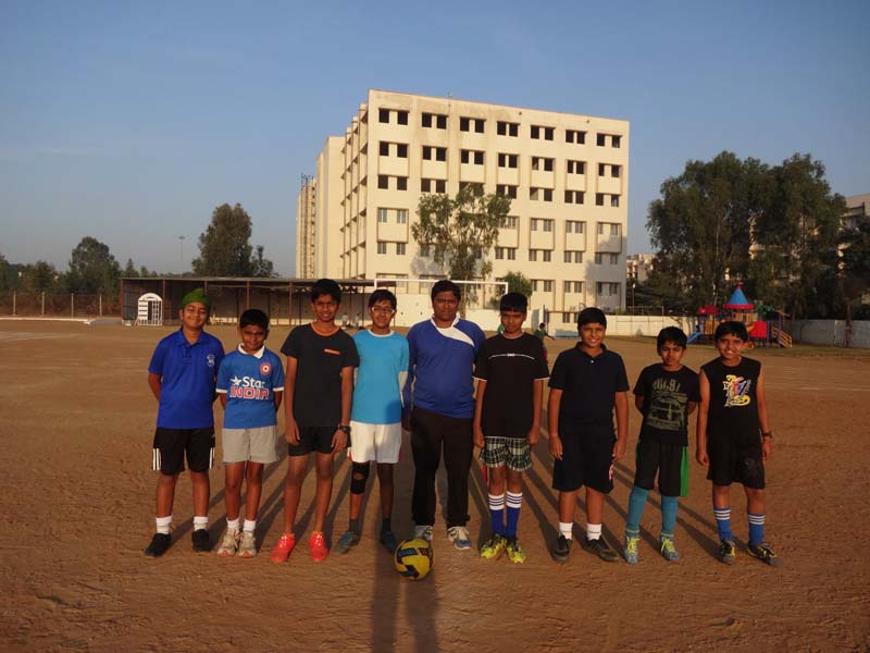 vydehi intraschool football tournament