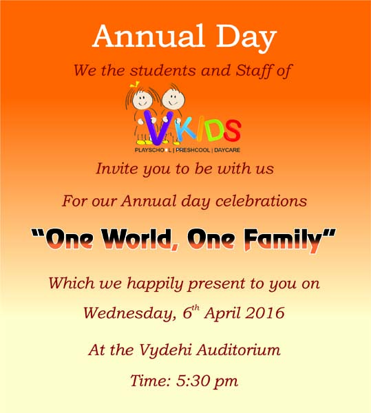 You Re Invited To Our Annual Day Celebrations Vydehi School