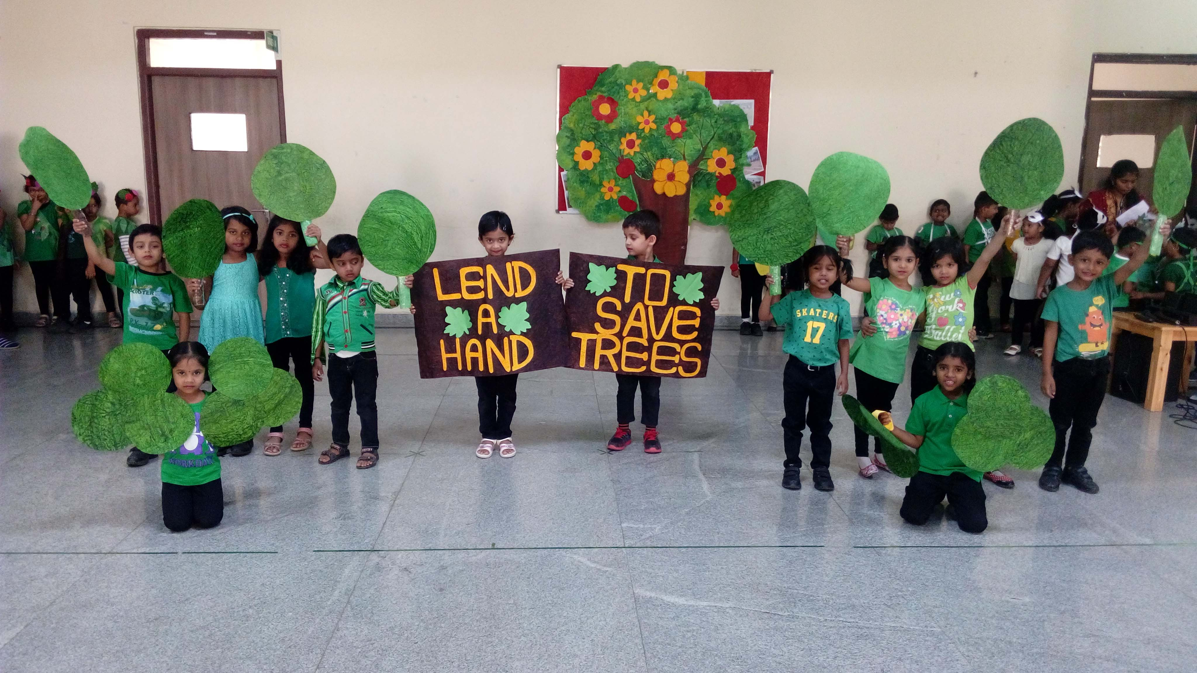 Lend A Hand To Save Trees Vydehi School