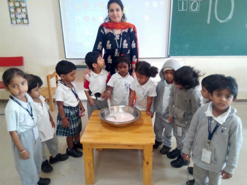 Vydehi-school-Kitchenette activity-Strawberry Crushers3