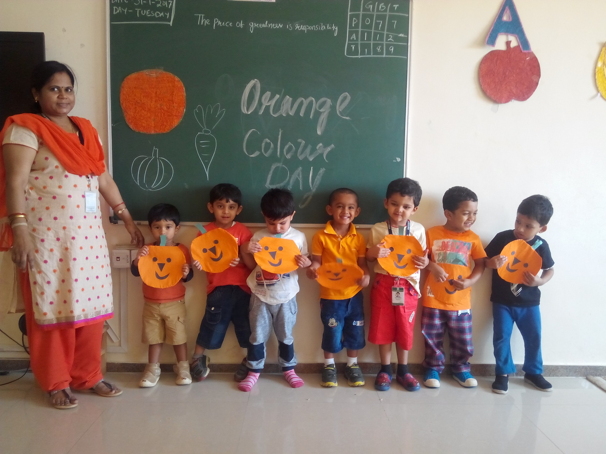 orange color day activity